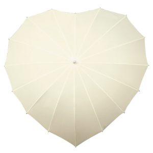 Ivory heart umbrella