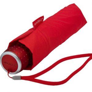 Red Manual Compact Umbrella