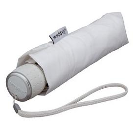 White Manual Compact Umbrella