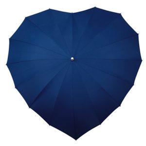 Navy Blue heart umbrella