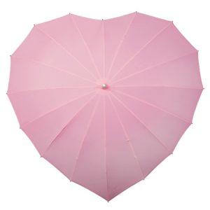 Soft Pink heart umbrella