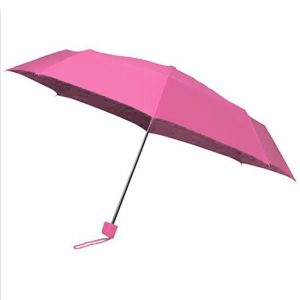Pink Telescopic Umbrella