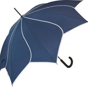 Navy Petal Umbrella