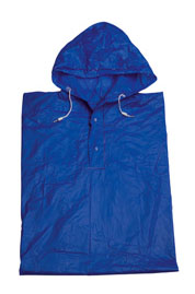 Blue Unisex Rain Poncho