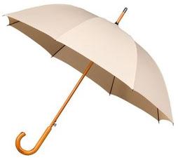 Beige Windproof Walking Umbrella