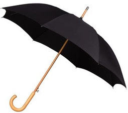 Black Windproof Walking Umbrella