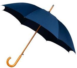 Dark Blue Windproof Walking Umbrella