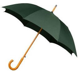 Green Windproof Walking Umbrella