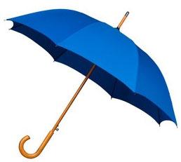 Mid Blue Windproof Walking Umbrella