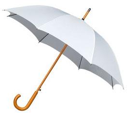White Windproof Walking Umbrella