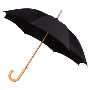 Black Wood Stick Umbrella