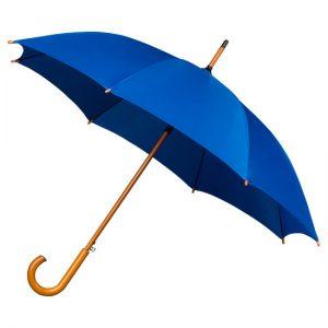 blue wood stick umbrella