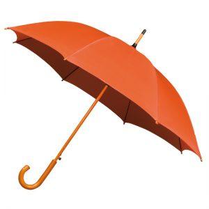 Orange Wood Stick Umbrella