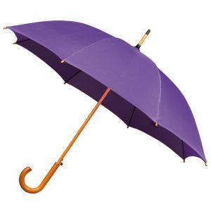 purple wood stick umbrella