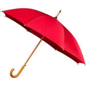 Red Wood Stick Umbrella