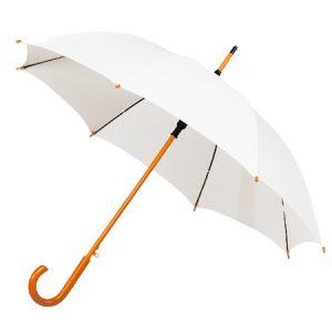 White Wood Stick Umbrella