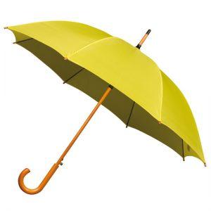 Yellow Wood Stick Umbrella