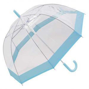 Pastoral blue bordered dome umbrella